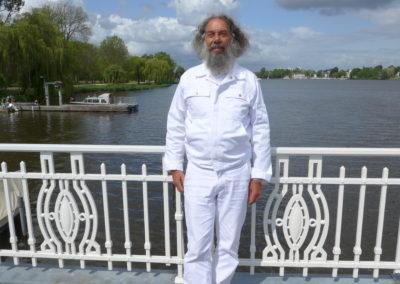 2016 Pause mit Rajarshi Peter van Breukelen an der Alster
