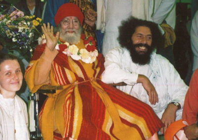 Mai 1995 Gurudev Paramahamsa Hariharananda Giri in Hamburg am Flughafen